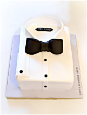 Tom Ford Tux Black Bow Tie Shirt Cake for Men Cherie Kelly London