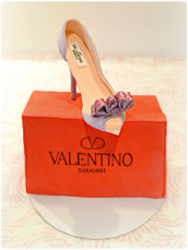 Valentino High Heels and Shoe Box Cake Cherie Kelly Cake London