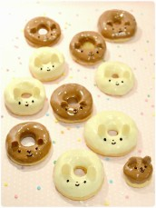 Bunny Rabbit and Teddy Bear animal doughnuts Cherie Kelly Cake London