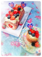 strawberry souffle cake roll Cherie Kelly Cake London