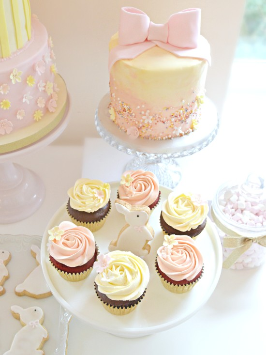 Pink And Cream Bunny Rabbit Themed Cake Table At Reigate