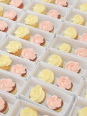 Mini Red Velvet and Lemon Cupcakes Wedding Favours Cherie Kelly London