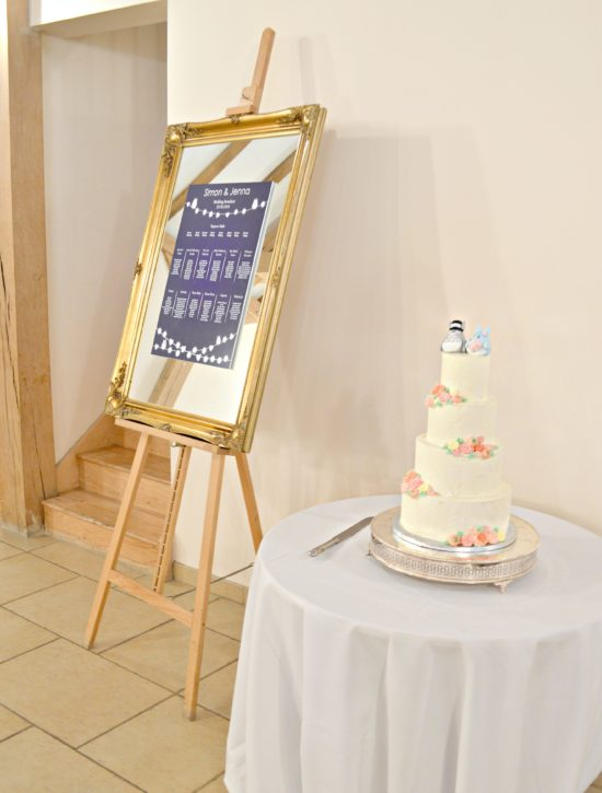 Rustic Orange and Peach Buttercream Flowers Wedding Cake at Rivervale Barn Hampshire Cherie Kelly
