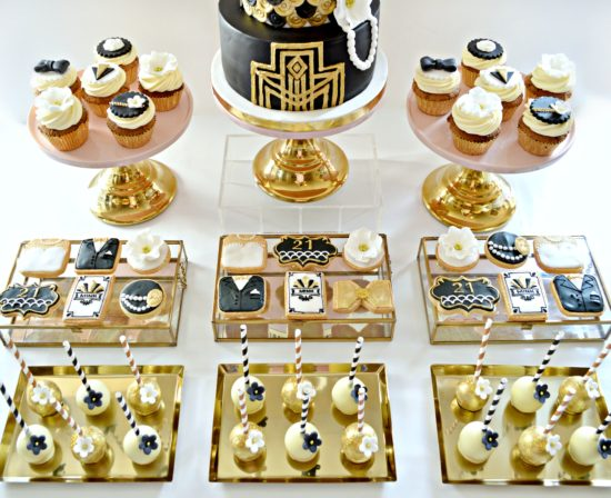 The Great Gatsby Themed 1920s Art Deco Birthday Cake