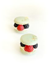 Matcha macarons with berries fruits buttercream filling Cherie Kelly cake London