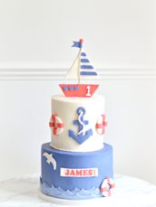 Nautical Sailboat First Birthday Cake Cherie Kelly London