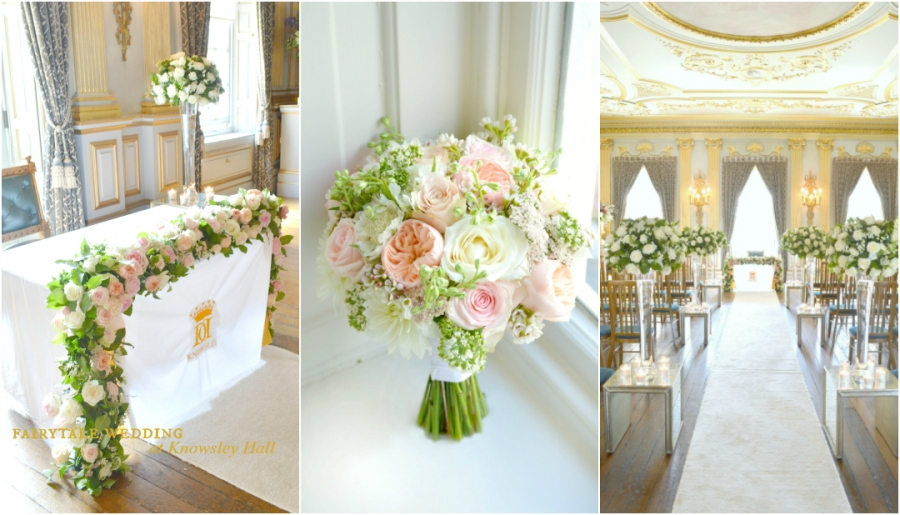 Wedding Flowers and Wedding Cake at Knowsley Hall Cherie Kelly