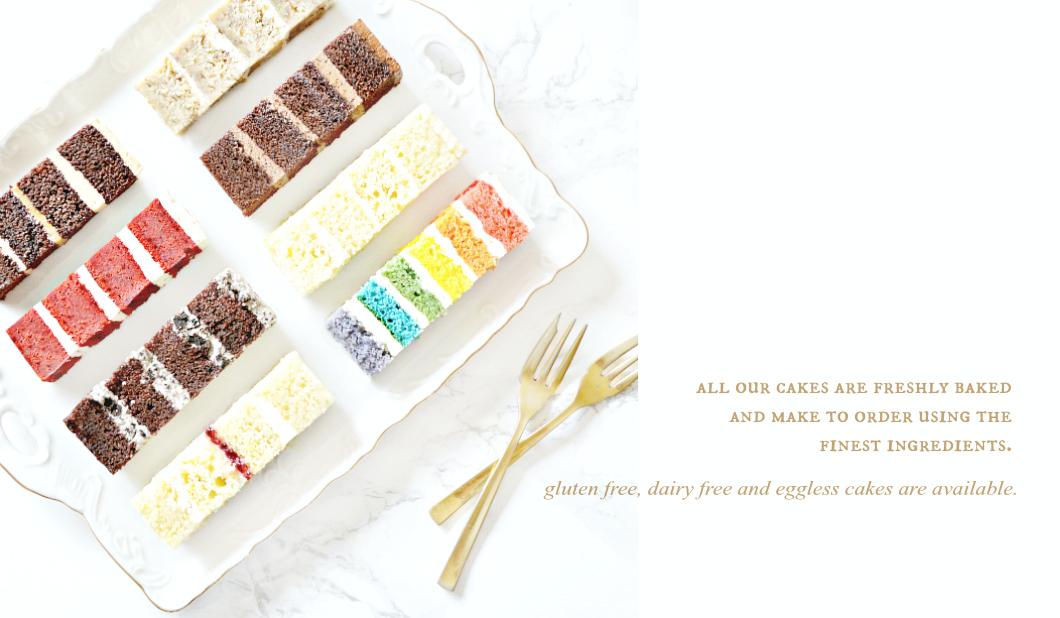 Cherie Kelly Gluten free Eggless Dairy free Vegan Wedding Birthday Cake Tasting Menu London
