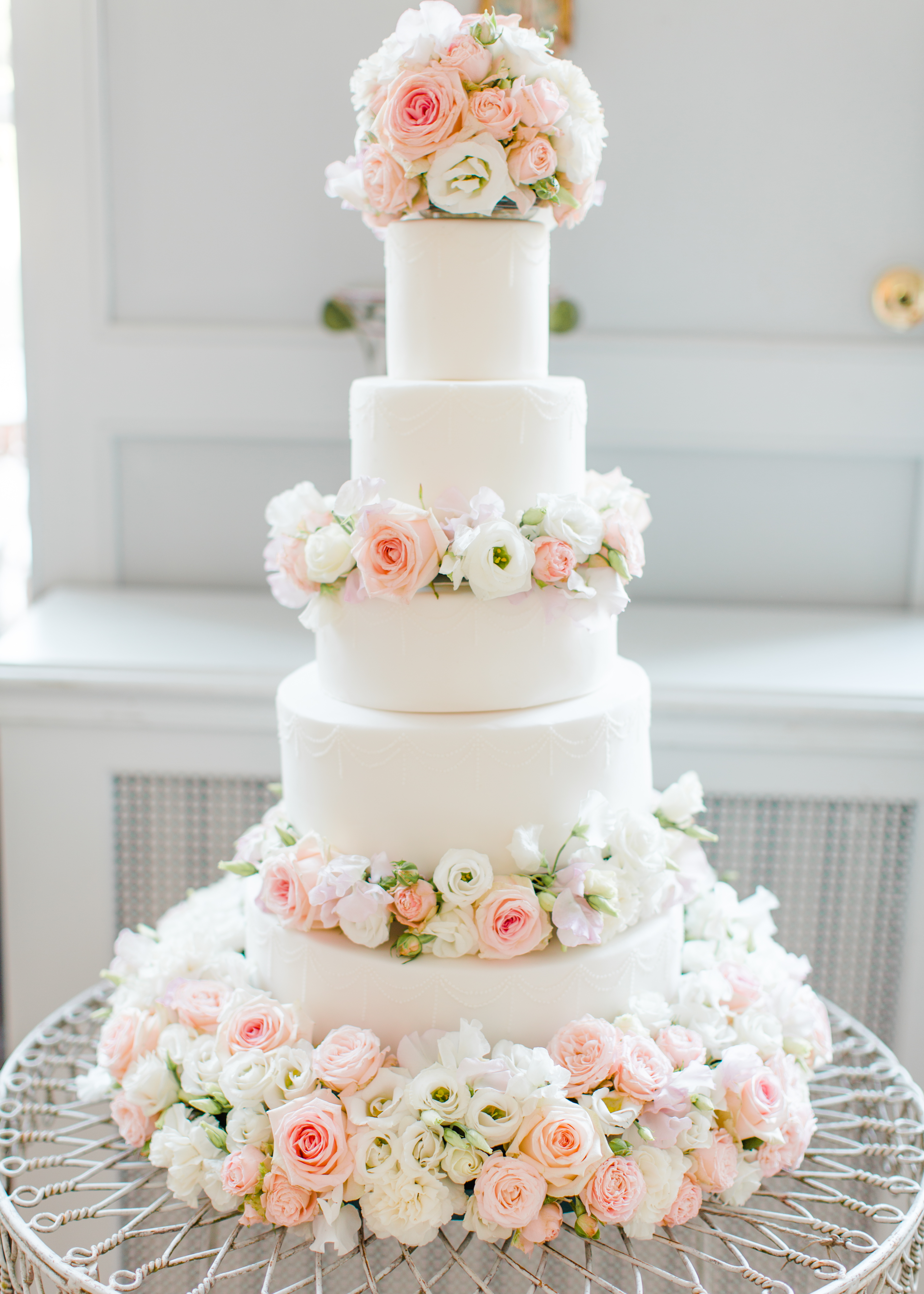 wedding cake fresh flowers cherie dusty pink and white fresh flowers floral 22720