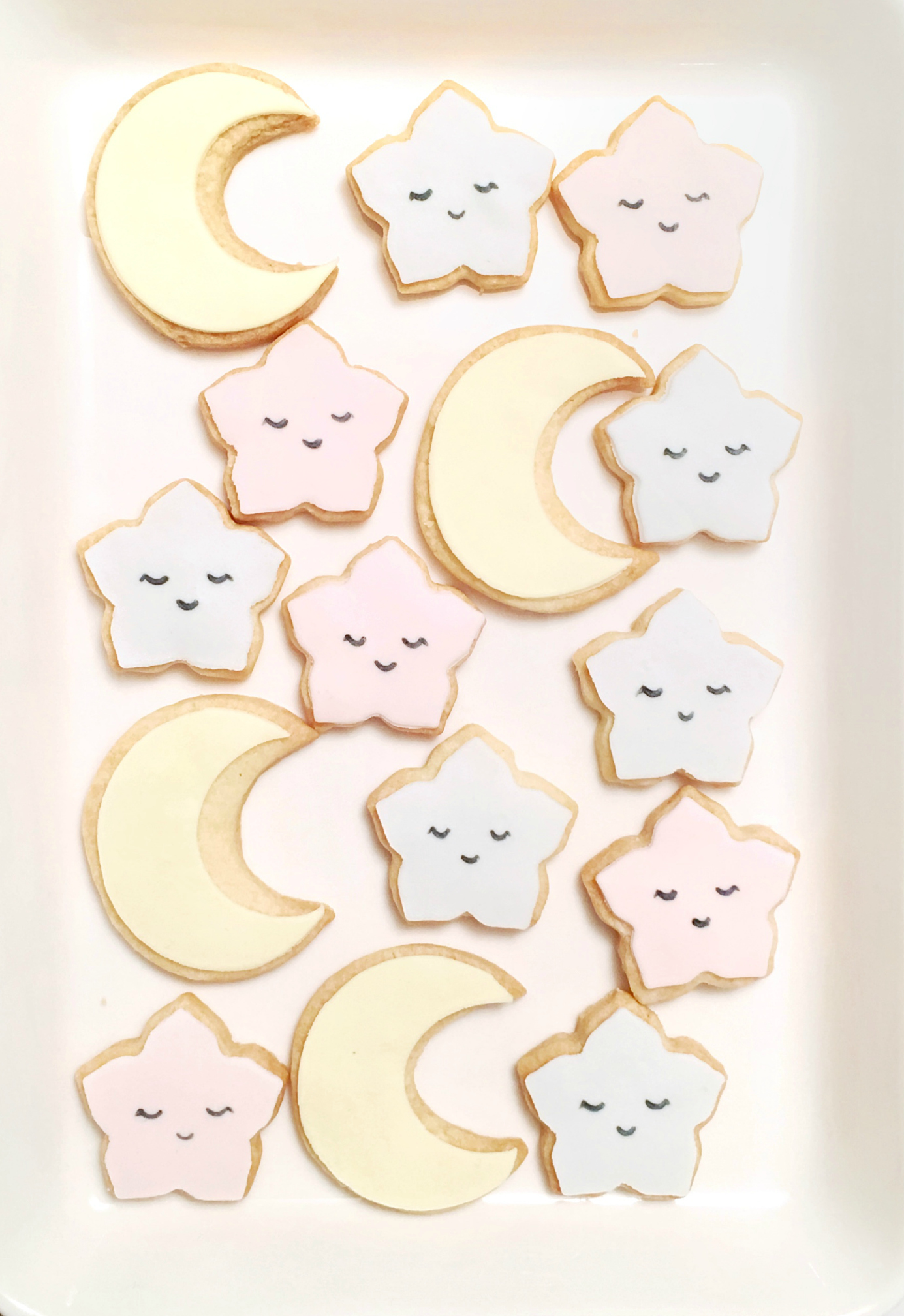 Baby twinkle star and moon 100 days first birthday cookies dessert table Cherie Kelly London Hong Kong