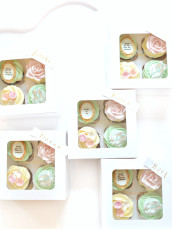 Bridal Shower Bridesmaid Presents Cupcakes Pink Blue and Mint Cherie Kelly London