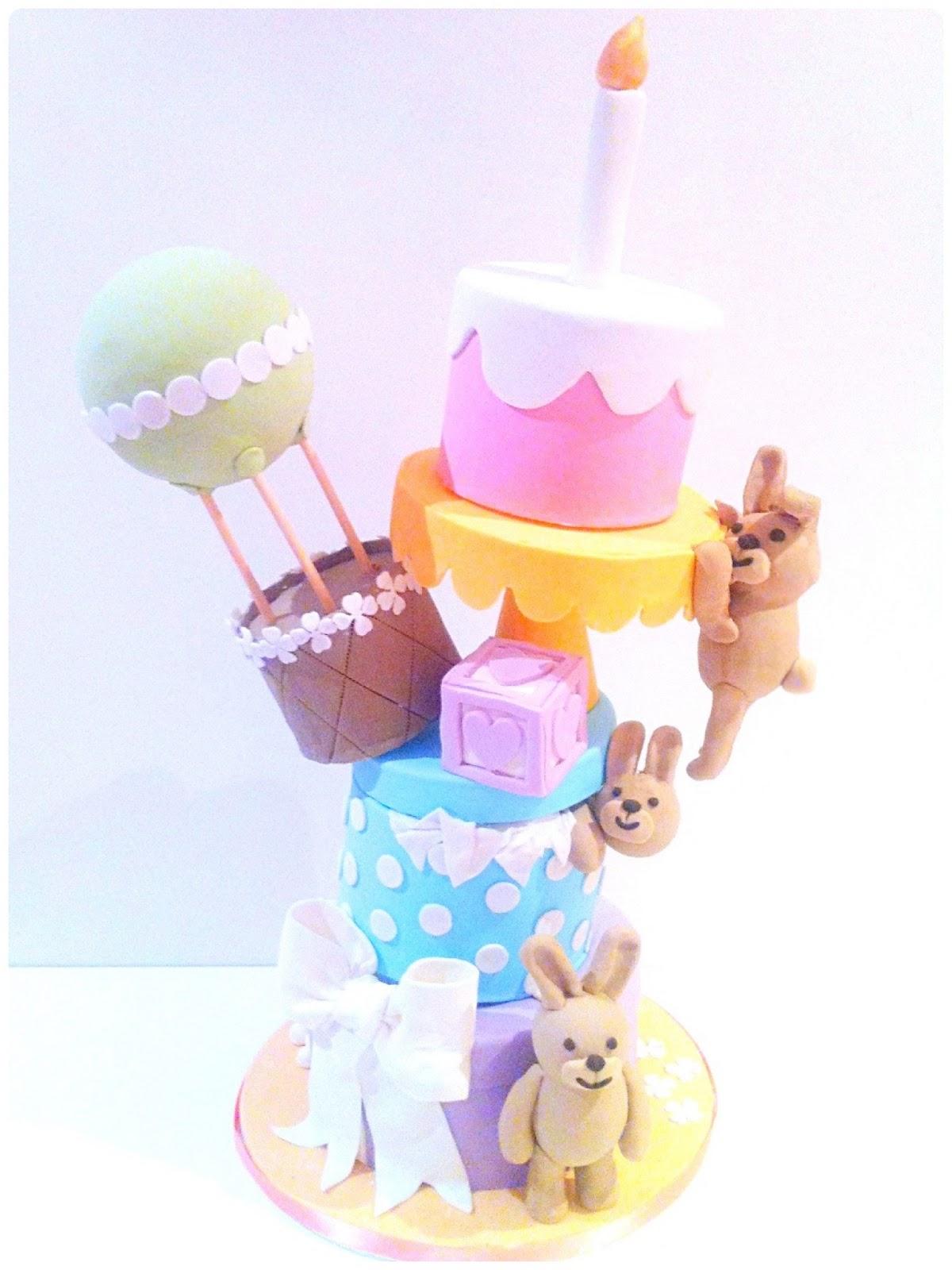 Bunnies Topsy Turvy Birthday Cake London Cherie Kelly