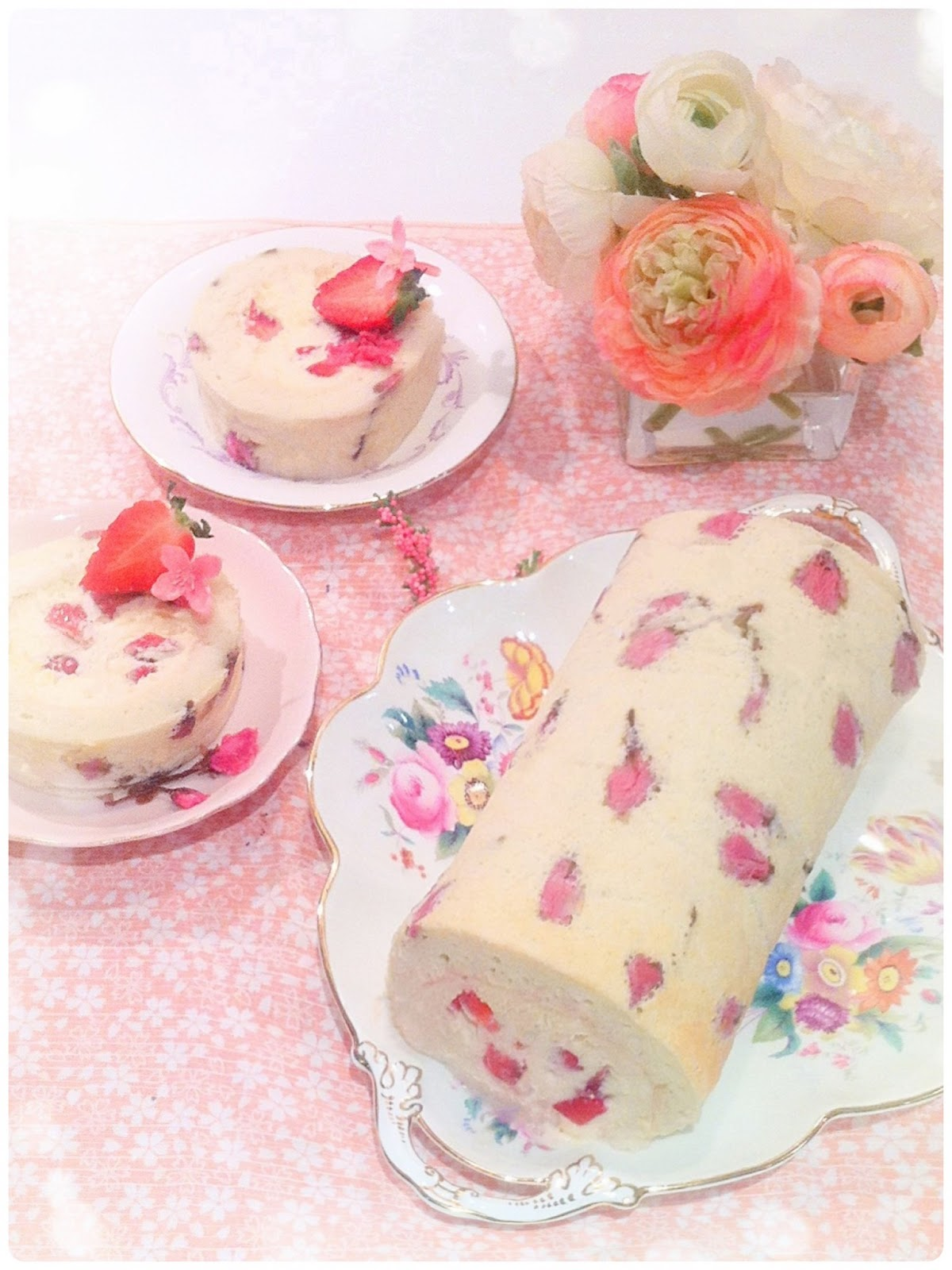 Cherry Blossom Sakura Soufflé Cake Roll London Cherie Kelly