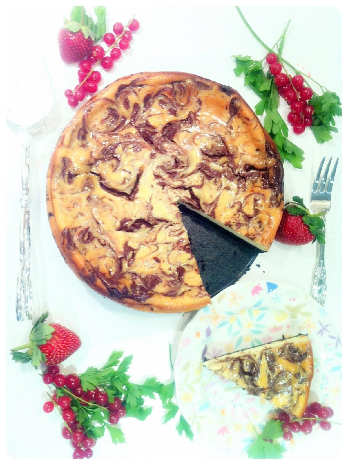 Chocolate Marble Cheesecake Birthday Cake London Cherie Kelly