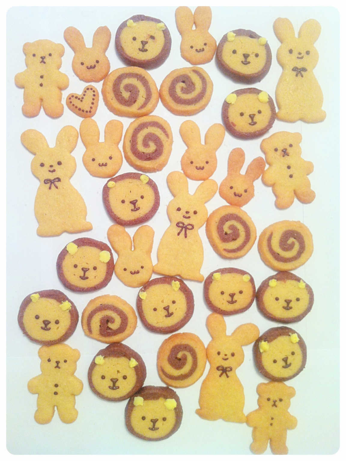 Cute Rabbit, Lion, Bear and Swirl Cookies 2 Cherie Kelly Cake London