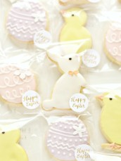 Easter Egg, Bunny and Chick Cookies Treats Cherie Kelly London