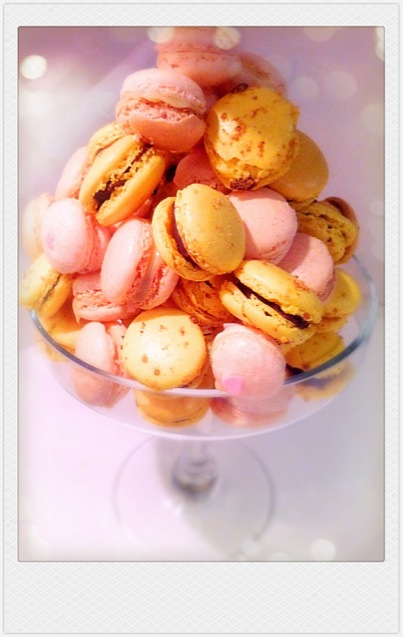 Hazelnut Chocolate and Vanilla Macarons Cherie Kelly Cake London
