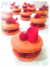 Ispahan lychee, raspberries, rose buttercream and macaron Cherie Kelly Cake London