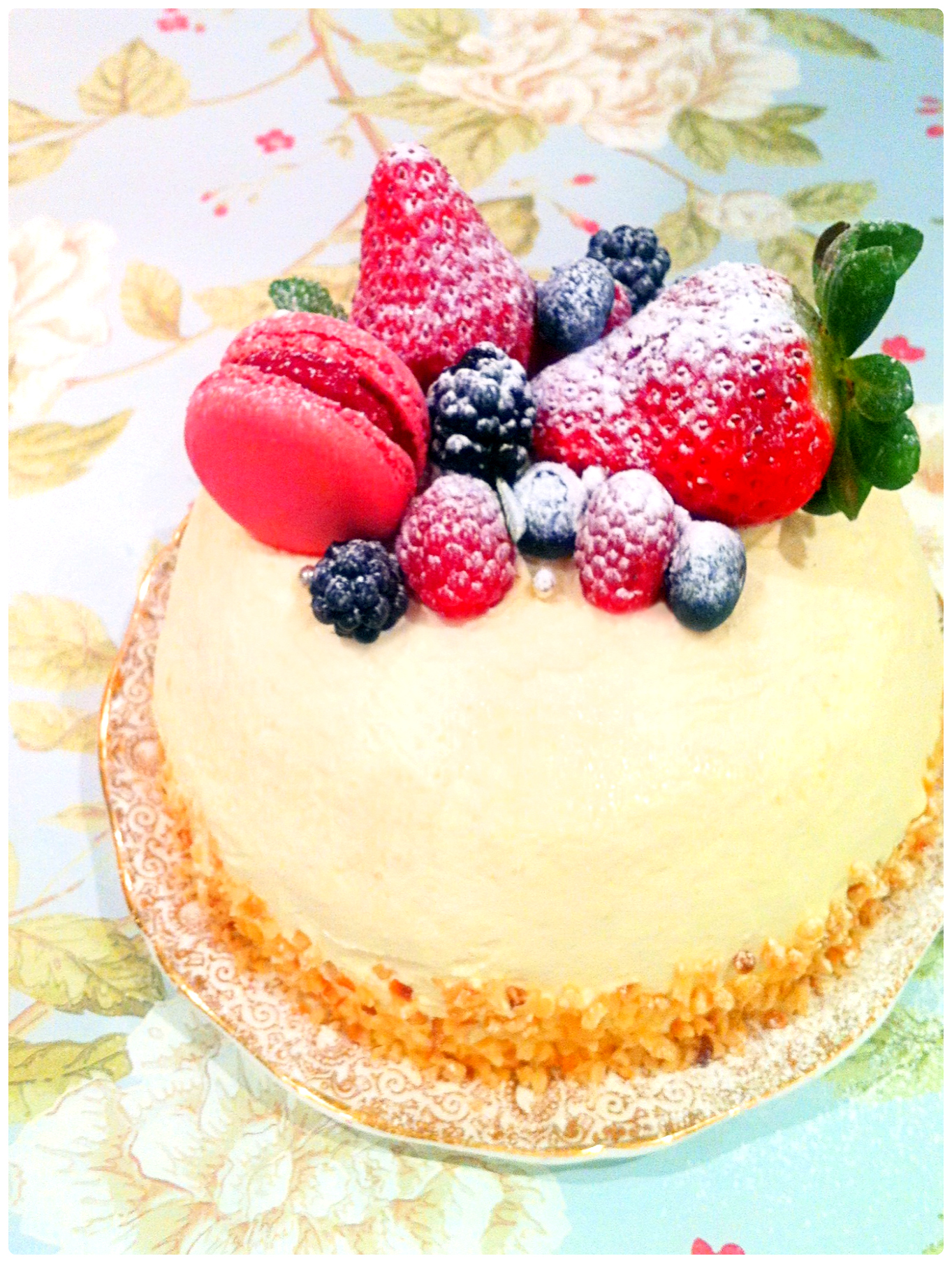 Lychee Mousse Dome Birthday Cake London Cherie Kelly