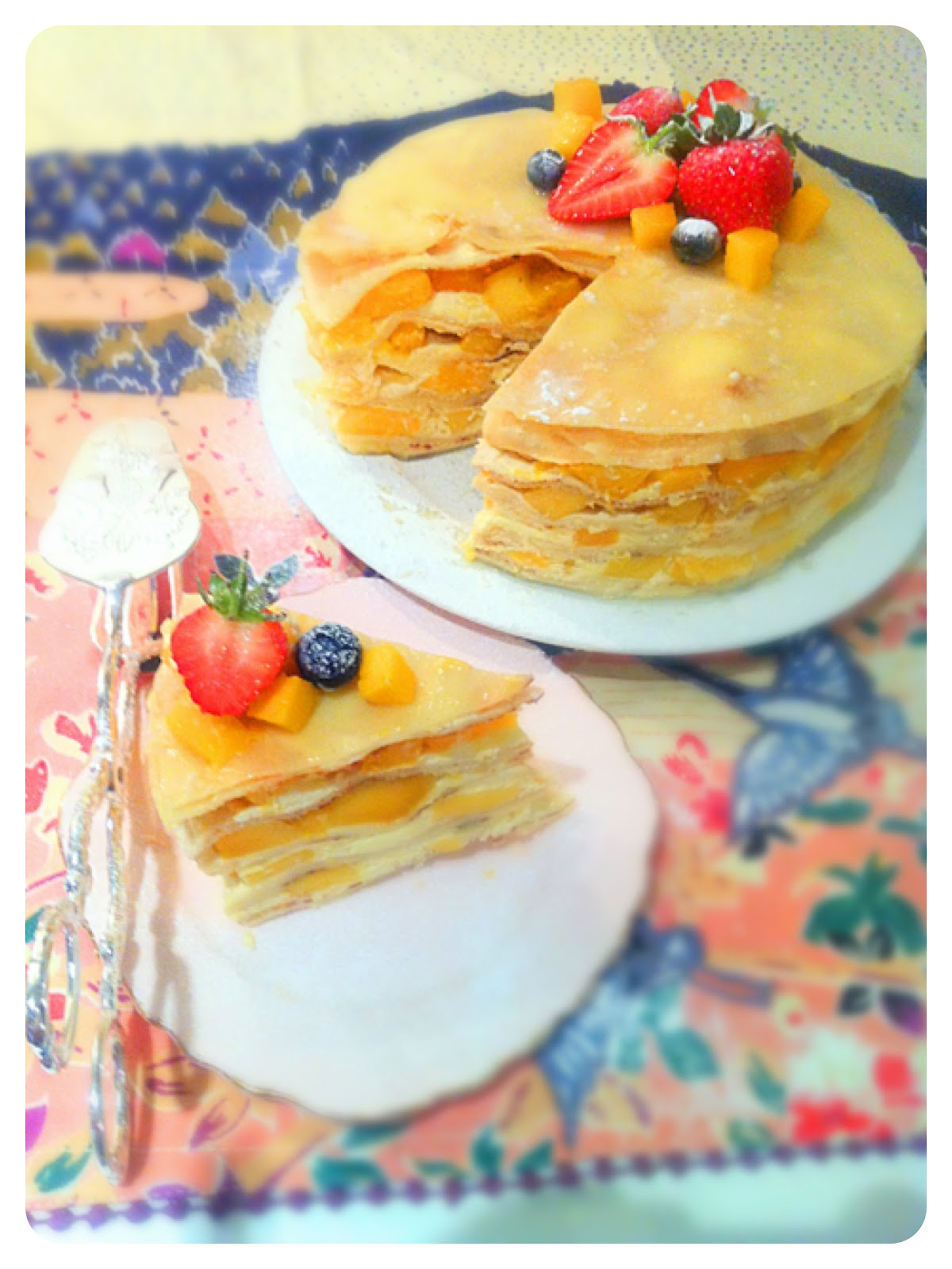 Mango Mille Crêpes Cake Birthday Cake London Cherie Kelly