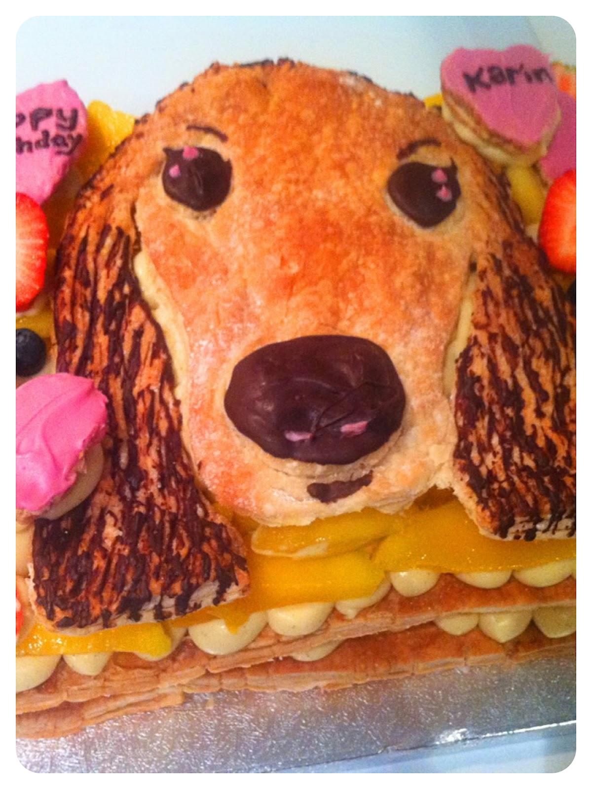 Mango Millefeuilles (Napoleons) Birthday Cake London Cherie Kelly