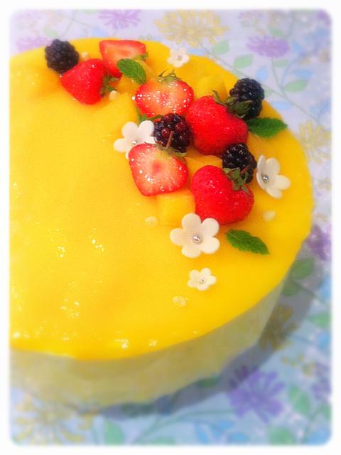 Mango and Vanilla Mousse Birthday Cake London Cherie Kelly