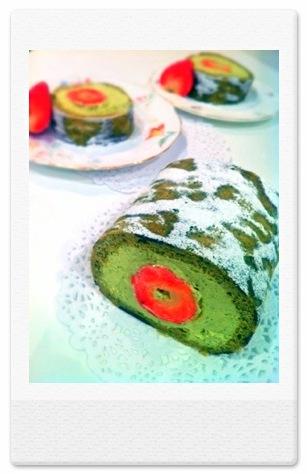 Matcha Green Tea Japanese Soufflé Roll Cake Birthday Cake London Cherie Kelly