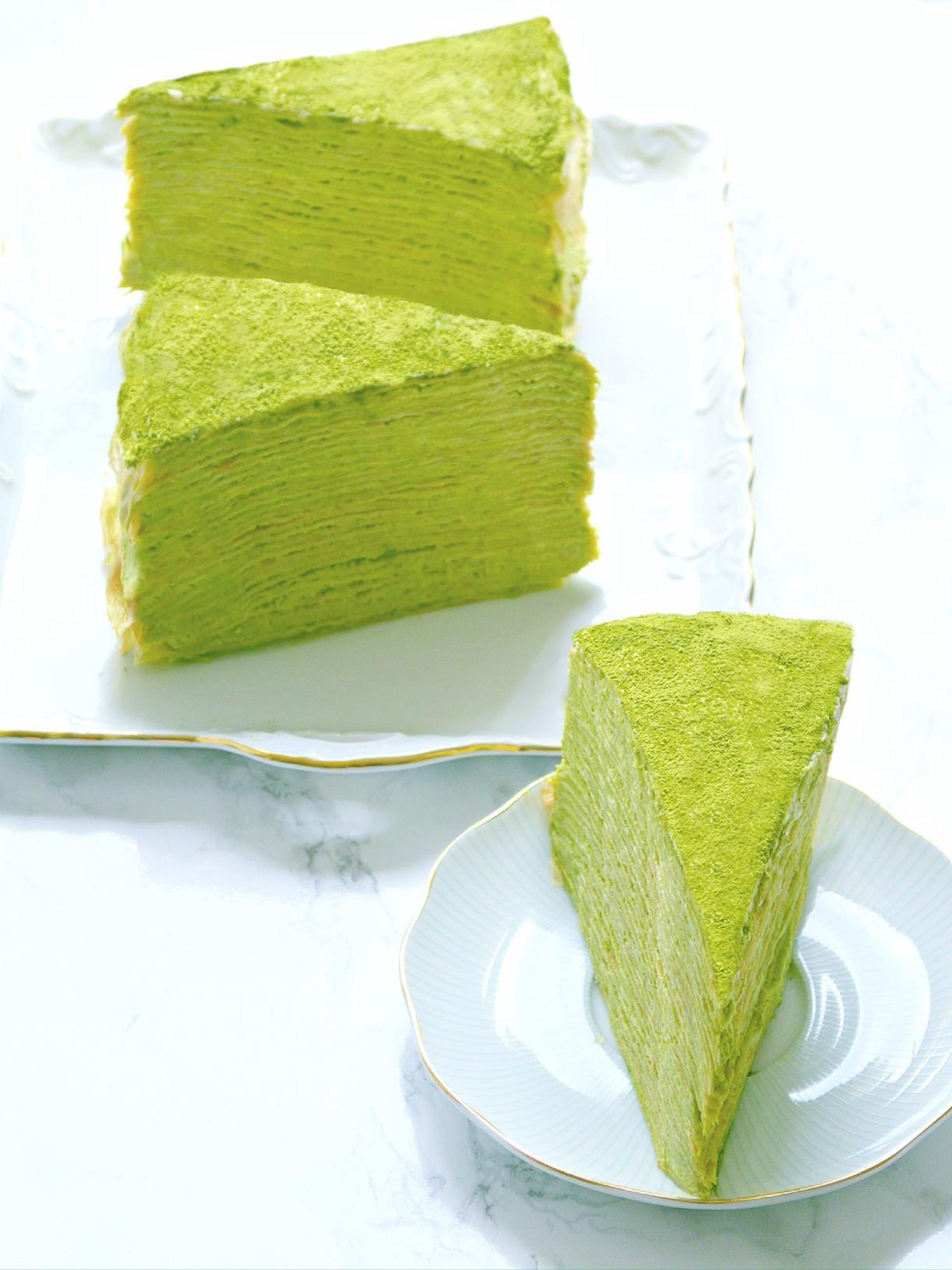 Matcha Green Tea Millie Crepe Cake London Cherie Kelly