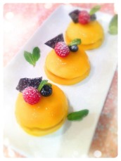 Panna Cotta and Mango Mousse Dome Cakes Cherie Kelly Cake London