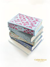 Penguin Clothbound Classics Great Expectations, Sense and Sensibility, Wuthering Heights and Tess of the D'Urbervilles stack of books cake Cherie Kelly London
