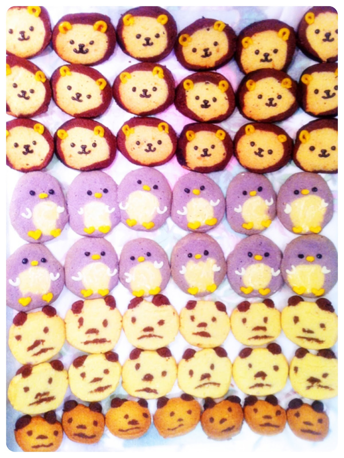 Penguin, Lion and Panda Icebox Cookies Cherie Kelly Cake London