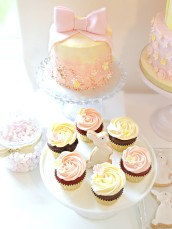 Pink and Cream Bunny Rabbit Themed Birthday Party Cupcakes London Cherie Kelly at Reigate Hill Golf Club Surrey