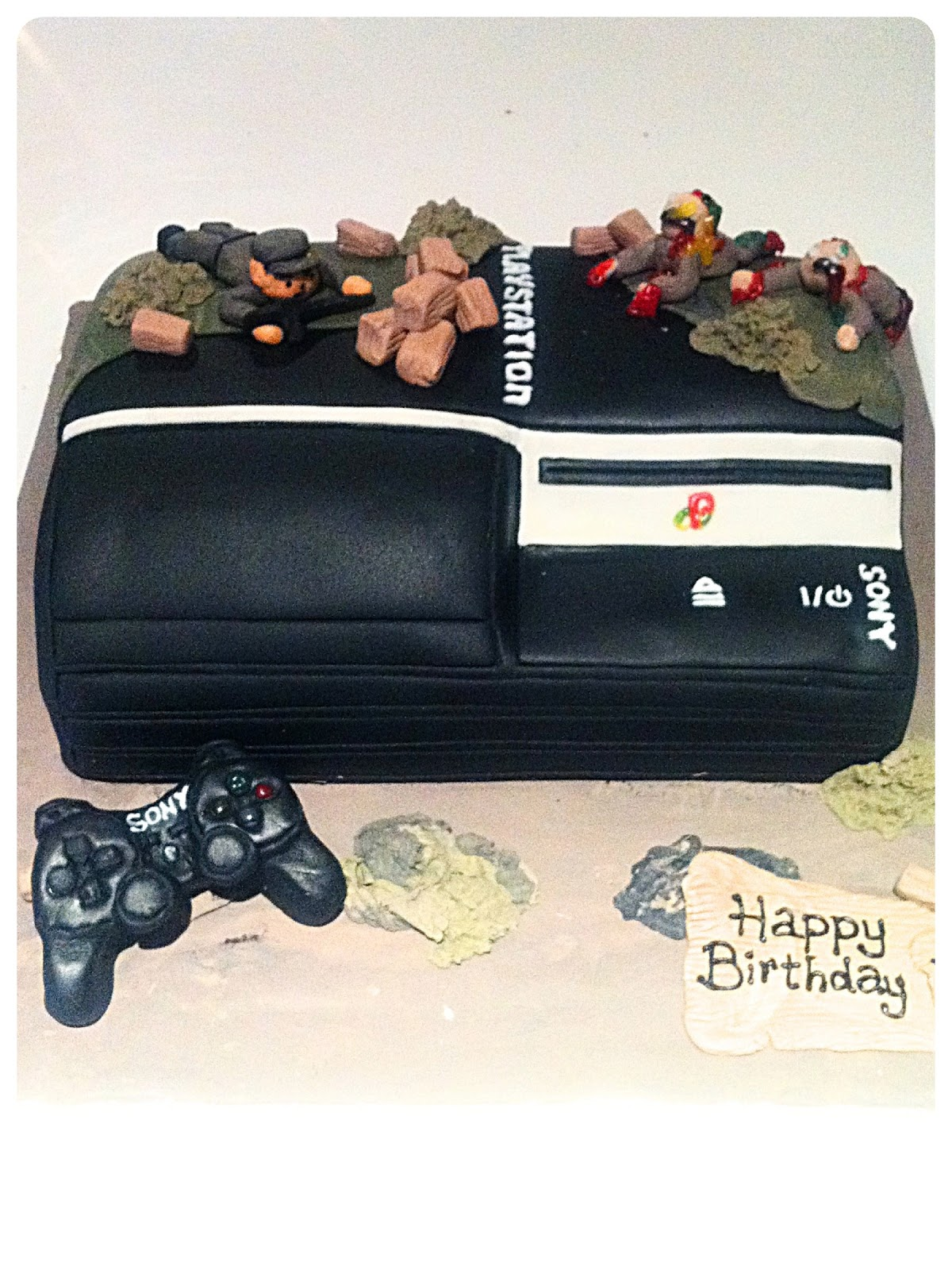 Playstation PS3 Birthday Cake London Cherie Kelly
