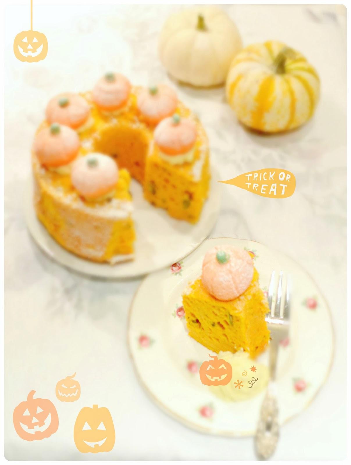 Pumpkin Chiffon Cheesecake Birthday Cake London Cherie Kelly
