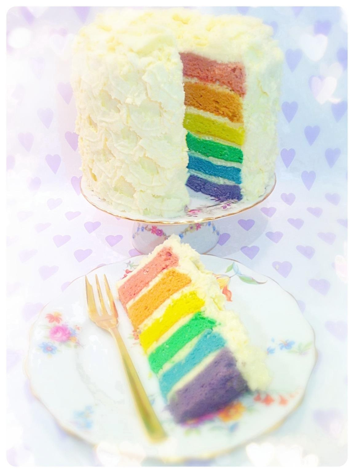 Rainbow Birthday Cake London Cherie Kelly