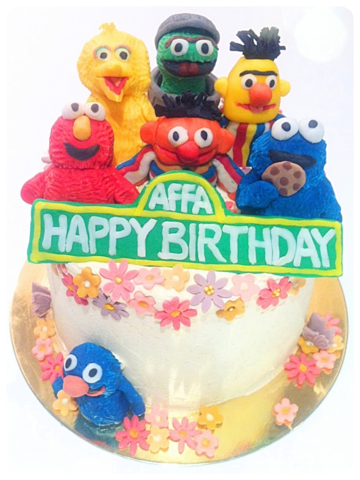 Sesame Street Rainbow Birthday Cake London Cherie Kelly
