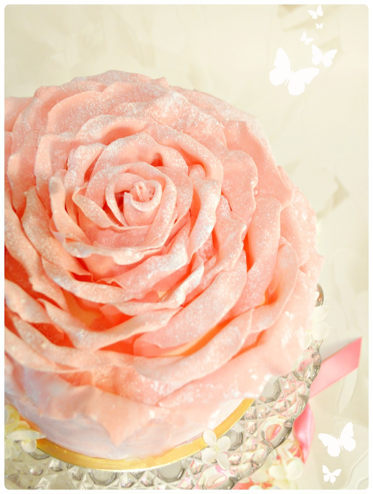 Strawberry Chocolate Rose Petal Birthday Cake London Cherie Kelly