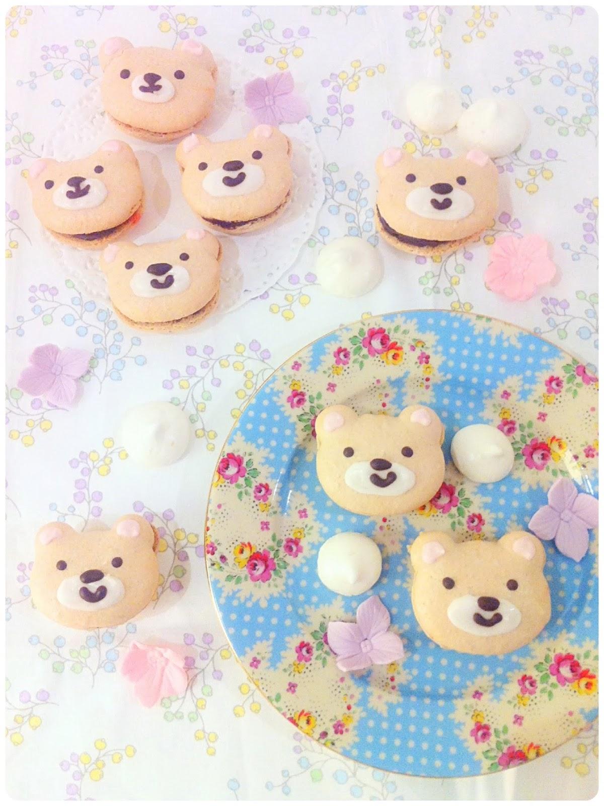 Teddy Bear Chocolate Macarons Cherie Kelly Cake LondonCherie Kelly Cake London