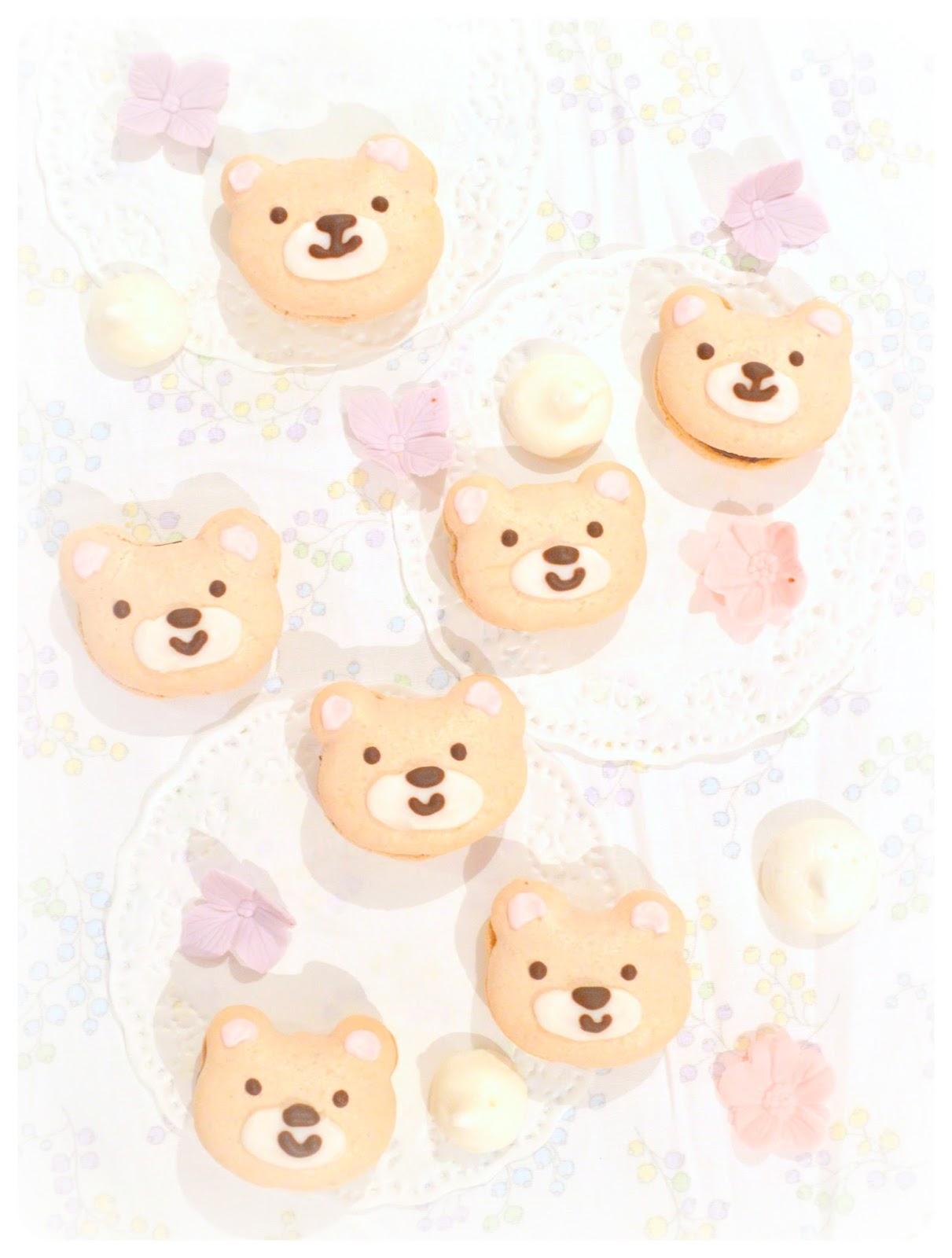 Teddy Bear Chocolate Macarons Cherie Kelly Cake London