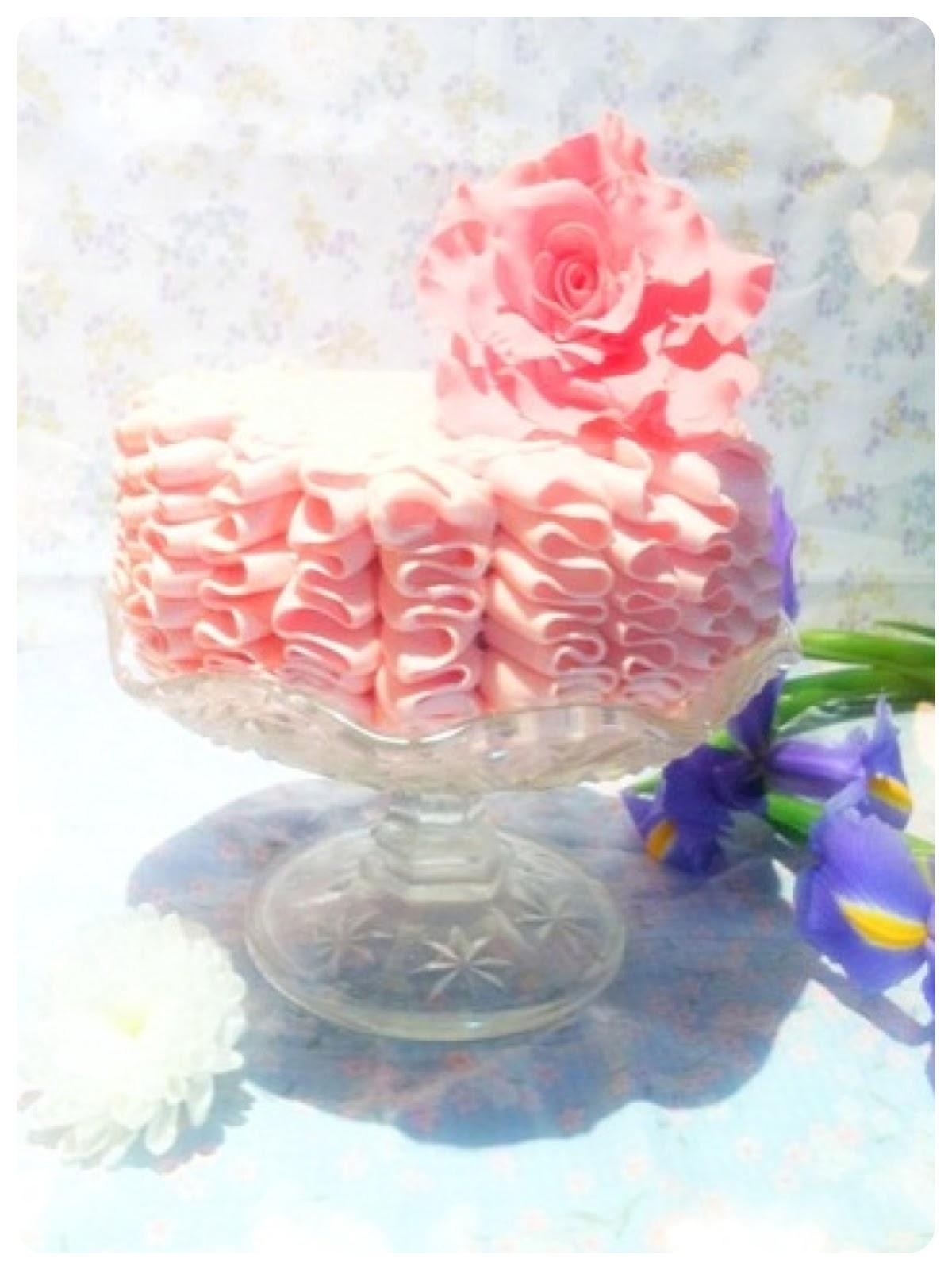 Victoria Sponge Ruffle Cake Birthday Cake London Cherie Kelly