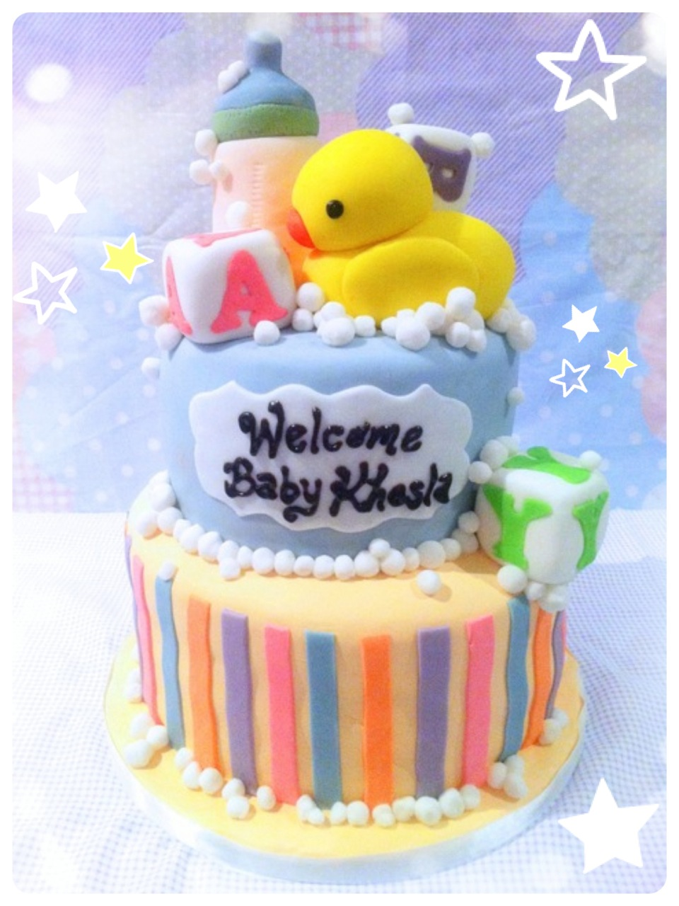 Welcome Baby Home Cake Baby Boy Shower London Cherie Kelly