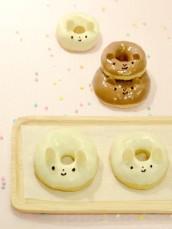 Rabbit and Bear animal doughnuts 9 Cherie Kelly Cake London