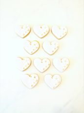 ink, White and Gold Bridal Shower Cookies Cherie Kelly London